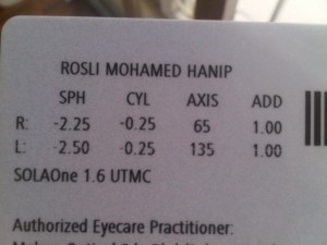 Eye Examination Result